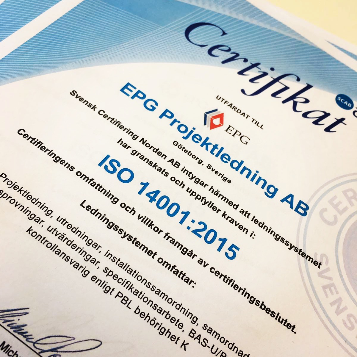 epg projektledning certifieringar